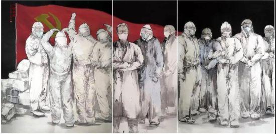中国画《大国脊梁》韩强