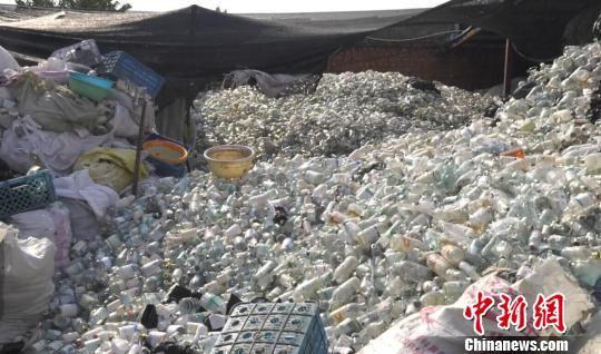 3000多吨医疗垃圾废弃物制成一次性塑料餐盘和劣