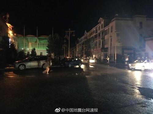 图为九寨沟县城。图片来源:中国地震台网速报