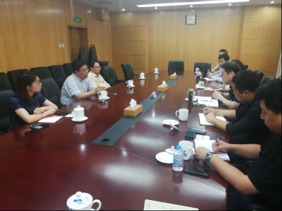 苏光明主任以及王立社部长与滨州访客座谈