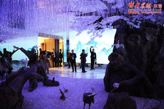 黄河文化馆的梦幻场景引人驻足