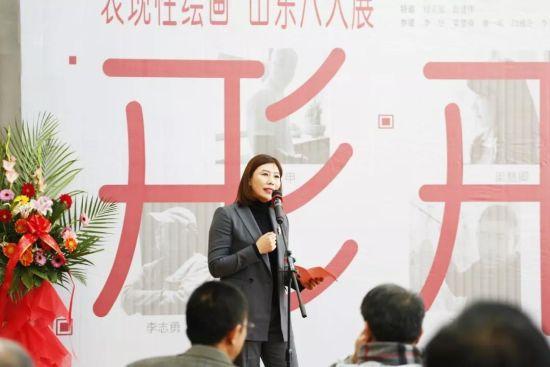 山东西城时光文化投资有限公司总经理李若冰致欢迎辞。