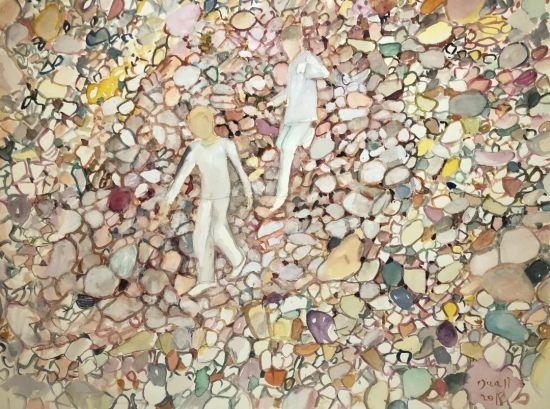 特邀艺术家作品段正渠《石头》