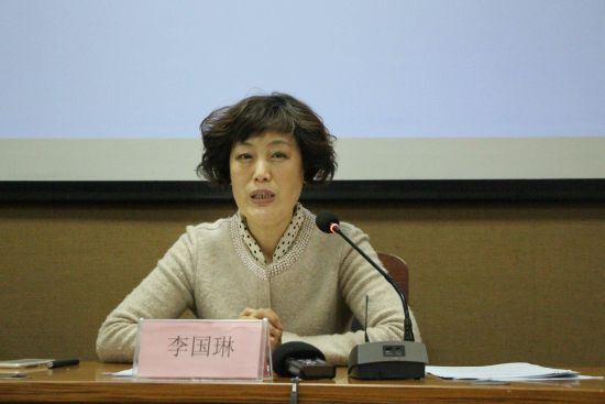 山东省文化和旅游厅一级巡视员李国琳在发布会上介绍情况。赵晓 摄