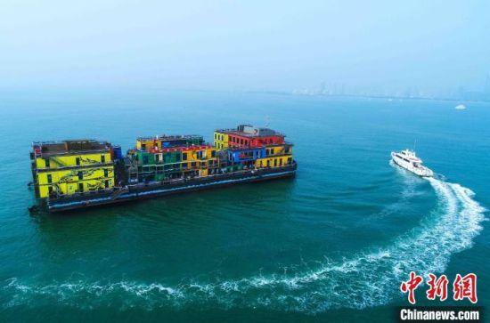 """图为中国最大海洋牧场多功能配套平台""""海上牧歌""""。日照海洋局供图"""