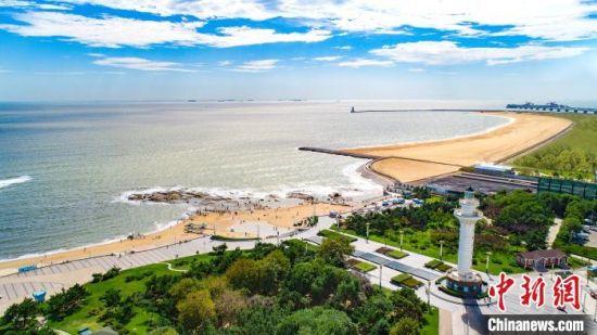 图为山东港口日照港退岸还海项目海龙湾。徐一杰 摄