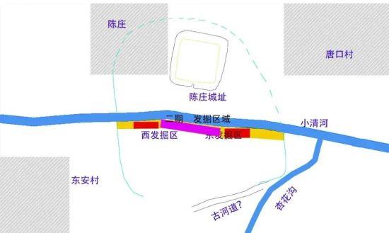 东安遗址发掘位置示意图